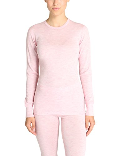 Ultrasport Pure Maglietta Maillot de corps manches longues Femme, Rose, X-Small