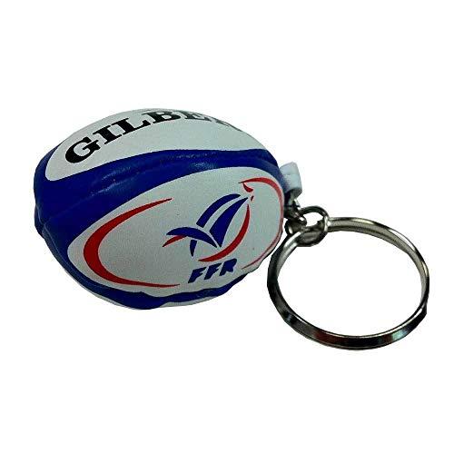 Gilbert France Rugby Keyring Ball, Mehrfarbig, Einheitsgröße