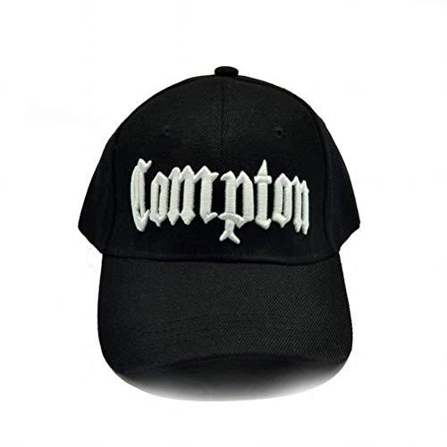 CWH-hat Compton Baseballmütze Street Dance Straight Outta Compton Hip Hop Cap, Schwarz, einstellbar
