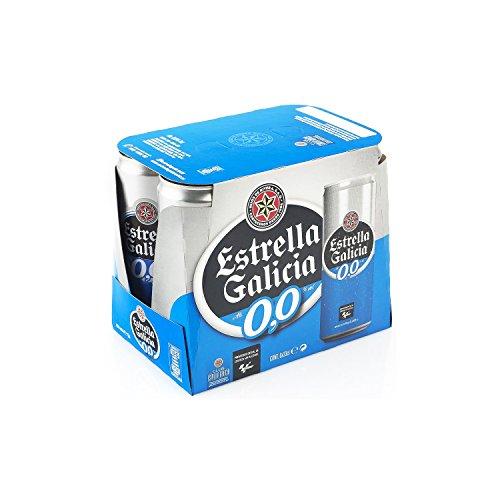 Estrella Galicia Cerveza 00 - Pack de 6 latas x 33 cl