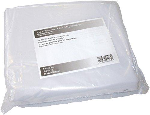 Ideal 9000037 - Lote de 50 bolsas de plástico para destructora de papel