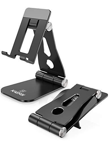 Soporte para teléfono Kersi ajustable, soporte de aluminio, soporte universal, compatible con iPhone 12 Pro Max, 11 Pro XR Xs Max X 8 7 6S Plus, HUAWEI, Galaxy S10 S9 S8 otros smartphones
