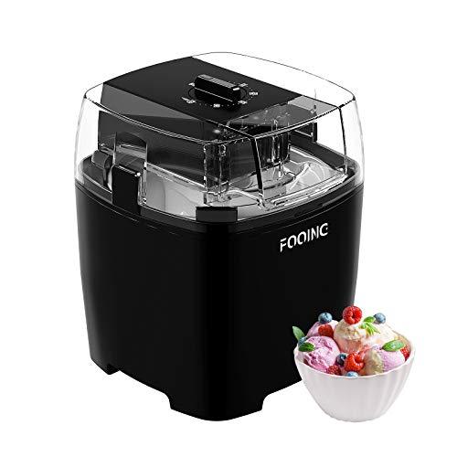 Fooing ice cream makers countertop, homemade ice cream machine, 1. 5 quart gelato sorbet maker frozen yogurt machine for kids home (inkiness)