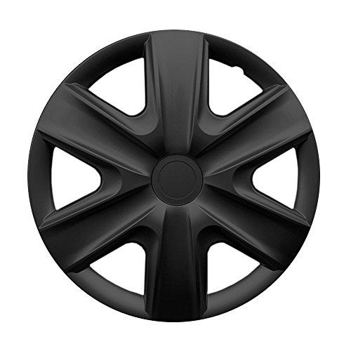CM DESIGN 14 Zoll Radzierblenden HEXAN (Schwarz). Radkappen passend für Fast alle VW Volkswagen wie z.B. Golf 6 1K!