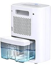 Hommak Deshumidificador Eléctrico portátil, 700ml Mini Dehumidifier Pequeño con Modo de Reposo Silencioso 28dB, LED Indicador, One Touch Design para Habitación, Oficina, Armario, Dormitorio hasta 20㎡