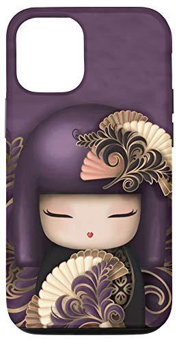 iPhone 12/12 Pro Cute Asian Geisha Kokeshi Doll Phone Cover Case