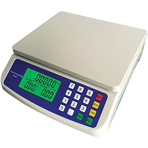 ZCY Digitale keuken, weegschaal, 30 kg / 1 G, LCD-precisie, elektronische prijs, compressie