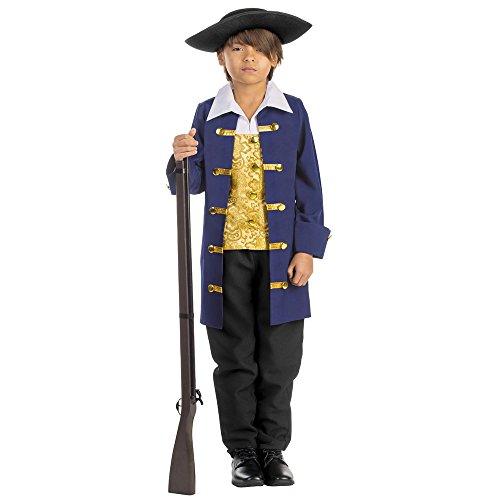 Viste a América - 791-L - de Colon aristocrática Traje del Siglo 18 para los niños - 12-14 años - 140 cm de tamaño - Azul