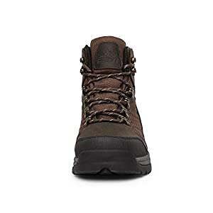 NORTIV 8 Men's Waterproof Hiking Boots Mid Ankle Hiker Mountaineering Trekking Boots Brown Size 11 M US Skyline