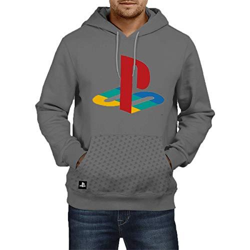 Moletom Casual, Sony Playstation, Cinza, Xg, Adulto Unissex