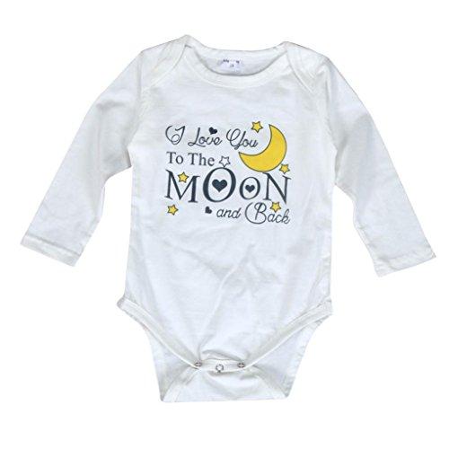 kingko® Newborn Infant Garçon Fille Bébé Lettre Imprimer Romper Jumpsuit Tenues Vêtements (3-6 Mois)