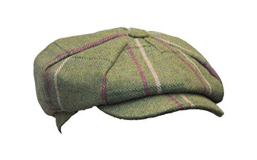 Walker & Hawkes - Damen-Schirmmütze im Baker Boy-Stil - Tweed im Country-Design - Muster mit rosa Streifen - Größe M (58cm)