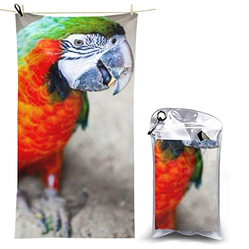 XCNGG Microfiber Beach Towel, Colorful Parrot Painting Quick Fast Dry Towel Blanket Sand Free Soft Absorbent Lightweight Bath Towels for Beach, Bath, Swim, Travel