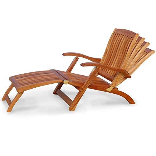 indoba Designer Gartenliege - Sonnenliege - verstellbar - Holz Garten Liege Liegestuhl mit Abnehmbarer Fußablage