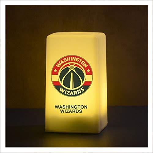 ANLW NBA Washington Wizards LED de luz de la Noche, NBA Lámpara táctil con el Cable de Carga USB para el Presente para Adultos o niños birthdaygift Navidad