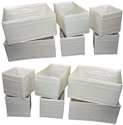 Unbekannt Aufbewahrungsboxen Skubb Faltboxen Regaleinsätze Kisten Regalzubehör … (12er Set, weiß)