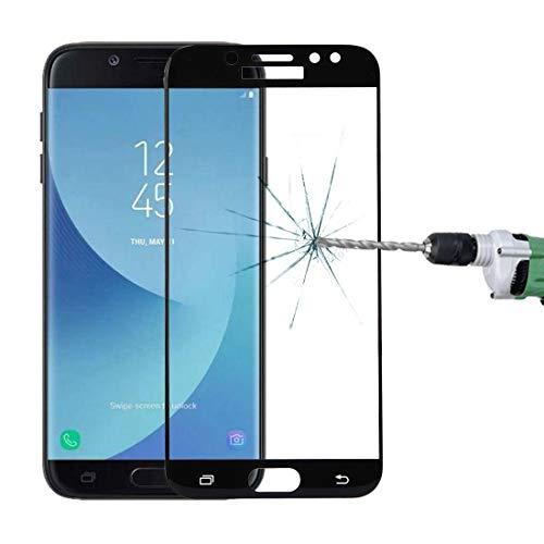 Película de vidrio For Samsung Galaxy J7 Pro 0.3mm 9H Dureza de superficie 3D Pantalla de seda curvada Pantalla completa Protector de pantalla de vidrio templado Película de vidrio ( Color : Black )