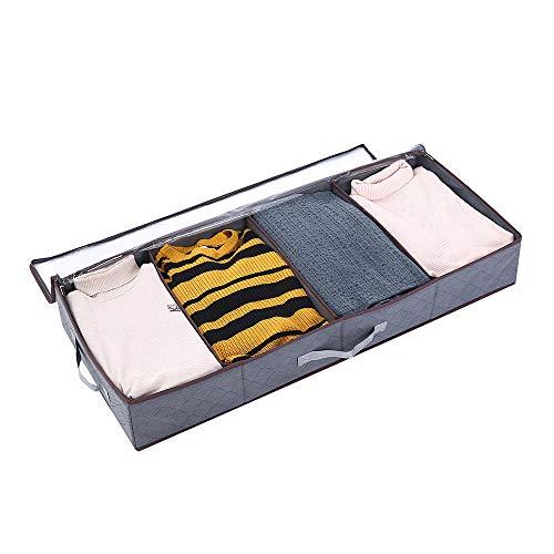 Yopih grote capaciteit dikke nonwoven opbergtas voor comfort dekens beddengoed dekens kleding truien 60 x 35 x 40 cm