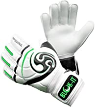 Blok-iT Goalkeeper Gloves Goalie Gloves-Make The Toughest Saves-Secure and Comfortable Fit-Extra Padding,ReducedChance of Injury (Green, Size 7=Youth-L)