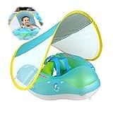 LLTFFFHM UPF 50+ Baby Swim Float Natación Anillo de natación UV Protección del bebé Flotación con toldo Inflable Floats Swim Trainer Water Fun Pool Juguetes,XL