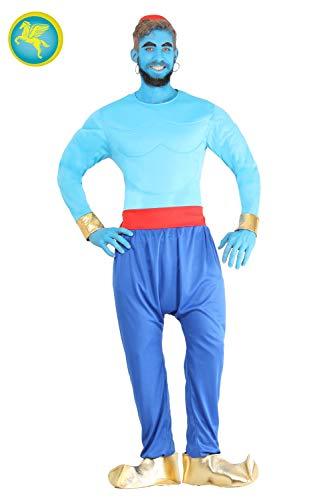 Pegasus Srl Vestito Costume Maschera di Carnevale - Adulti - Genio della Lampada - Taglia L - 48/50 Uomo
