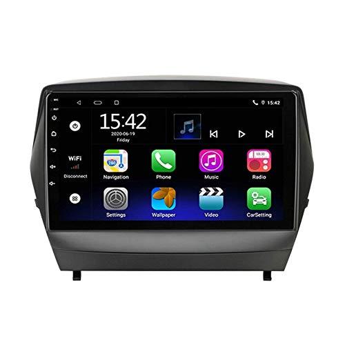 MIVPD Car Stereo Android 10.0 Radio para Hyundai Tucson 2 2009-2015 Navegación GPS Unidad Principal de 9 Pulgadas Pantalla táctil Reproductor Multimedia MP5 Receptor de Video con 4G WiFi SWC C