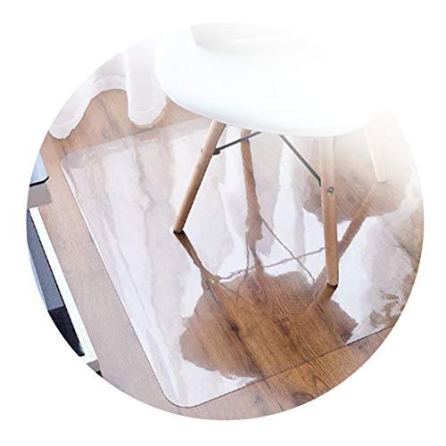 GFSD Alfombrillas para Oficina Estera de La Silla del Hogar de Los Escritorios, 1,5/2,0/3,0 Mm de Espesor Protector Transparente para Mesas, Personalizable (Color : 2.0mm, Size : 60x90cm)