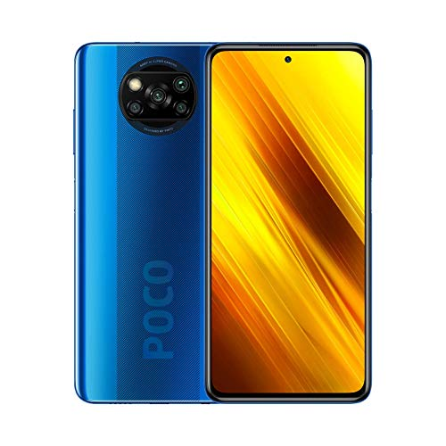 POCO X3 NFC - Smartphone 6 + 128 GB, 6,67 Zoll FHD+ Punch-hole Display, Snapdragon 732G, 64 MP AI Quad-Kamera, 5.160 mAh, Cobalt Blue (Offizielle Version + 2 Jahre Garantie)