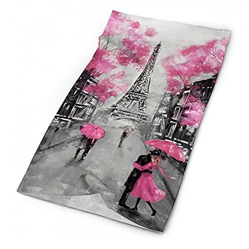 Art Paris Street Eiffel Tower Rosa FloralNot aplicable Mascarilla cara sonriente cráneo bandanas moda variedad cabeza bufanda al aire libre festivales deportes para hombres y mujeres
