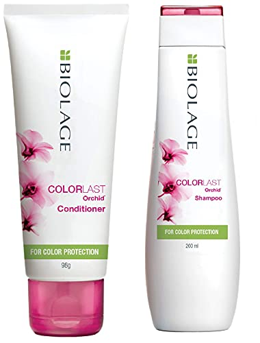 BIOLAGE Colorlast Professional 200ml Shampoo + 98g conditioner | Helps protect Colored Hair & Maintain Color vibrancy| For Colored hair | Paraben Free