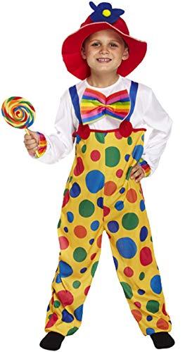 Fancy Me Mädchen Jungen Kinder Gepunktet Clown Comic Relief Kinder in Need Pudsey Lustig Zirkus Karneval Kostüm Kleid Outfit 4-12 Jahre - Multi, 4-6 Years