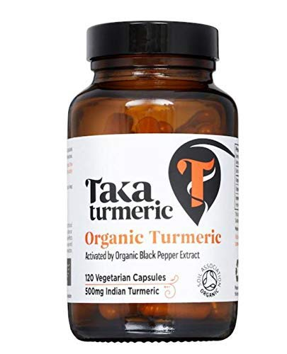 Taka Turmeric and Black Pepper Extract 120 Capsules (Pack of 2, 240 Total)