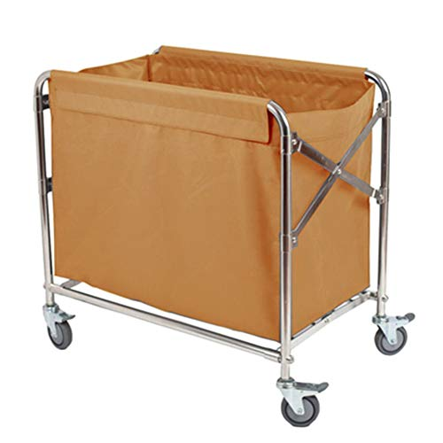 Salon Trolleys 4-Rad-Klapp-Einkaufsmobilitäts-Trolley Cart Market Laundry - 51,9 × 78 × 87 cm - Blau/Braun/Grau/Gelb (Color : Yellow)