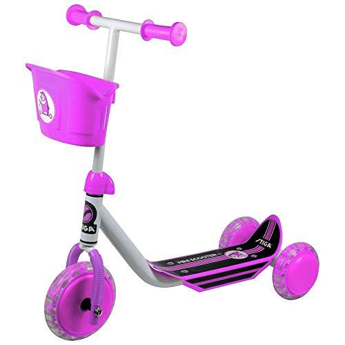 Stiga niños STR Mini Kid 3W Kick Scooter, Infantil, STR Mini Kid 3W, White/Pink, Talla única