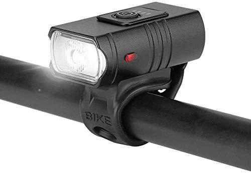 ZHENG Luz Bicicleta Faros Delanteros Bicicleta Faro de Aluminio Aleación de Aluminio Minigle Luz de Bicicleta USB Conoce a Todas Las Bicicletas Mountain Road and Camp (Color : Negro)