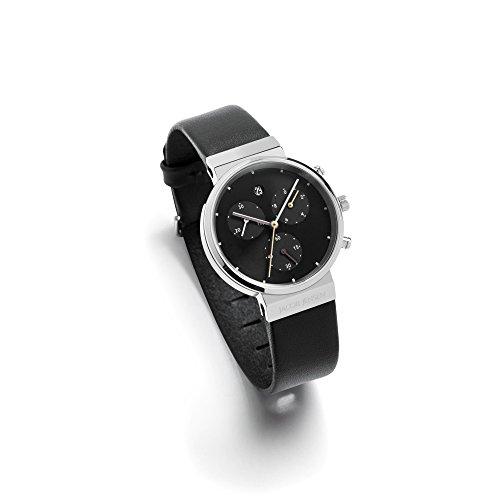 Jacob Jensen Damen Chronograph Quarz Uhr mit Leder Armband 613