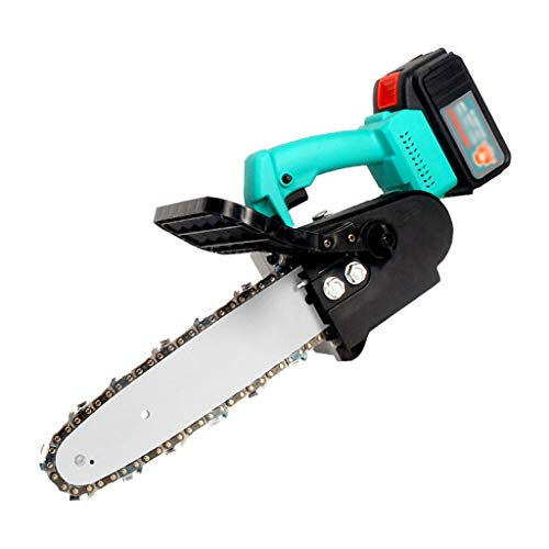 GLJ 10-Inch 21V Cordless Chainsaw, Portable Electric Chainsaw, One-Hand, for Tree Branch Wood Cutting