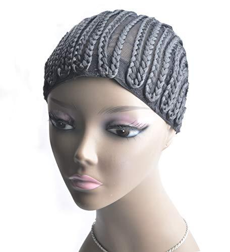 2 Pieces Super Elastic Cornrow Cap For Weave Crochet Braid Black Wig Caps For Making Wigs Top Quality Weaving Braid Cap Wig Net Ross Beauty