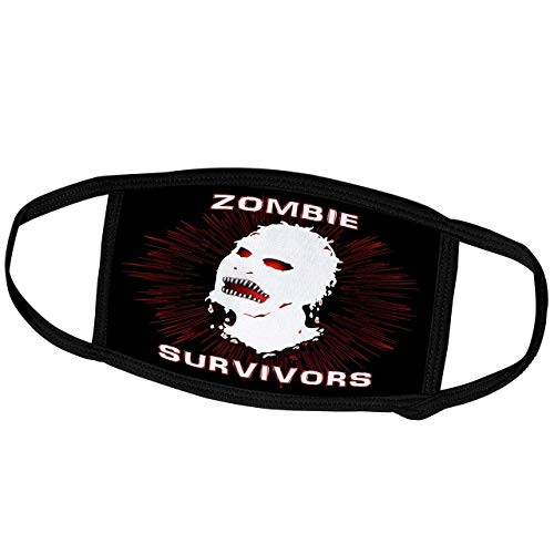 Promini Monatsmaske – Mark Grace Zombie Survivors Icon – Icon Zombie Survivors auf schwarz – Staubmaske Outdoor-Schutzmaske