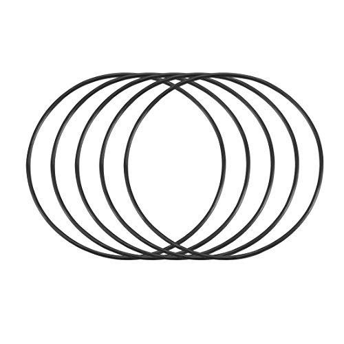 sourcing map 50 Stück O Ring Schwarz 43mm x 1mm Nitrilkautschuk NBR Dichtung Dichtungsringe de