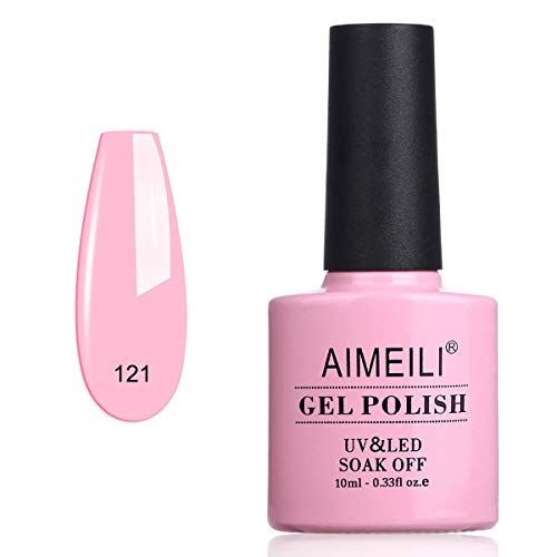 AIMEILI Esmalte Semipermanente De Uñas Soak Off UV LED Uñas De Gel - Rosa Rugosa (121) 10ml