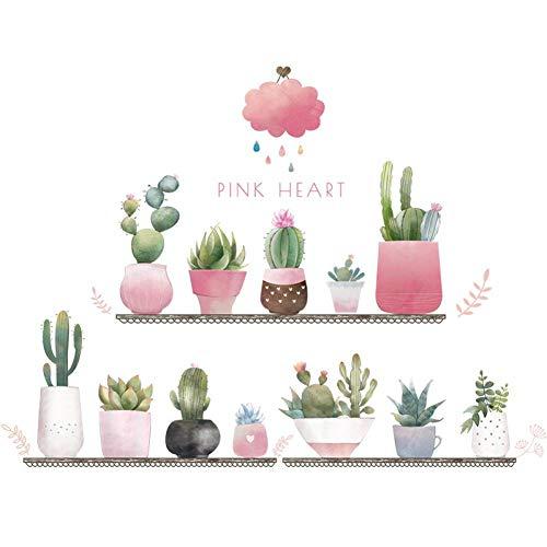 Leeypltm muursticker, motief plant in verse pot, voorkomt water, afneembare muursticker, kantoor, woonkamer, slaapkamer, achtergrond voor muur, kan als verjaardagscadeau worden gebruikt