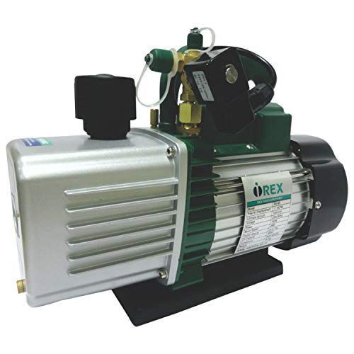 i-Rex RX-6D Double Stage Vacuum Pump with a capacity of 12 CFM (1HP) AC Refrigerant Air Vacuum Pump/Wine Degassing/Medical Food Processing Air Conditioning Vacuum Pump (2-Stage, 12 CFM, 750 Watt)