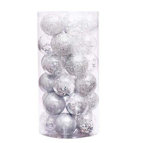 WangsCanis - 30 adornos de bolas de Navidad para decoración de fiestas
