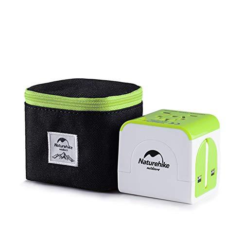 Naturehike Universal Adapter mit Aufbewahrungsbeutel Reiseadapter Weltweit USA, AU, EU, UK für über 150 Länder