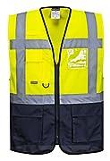 AS/NZS 4602.1:2011 Class D/N EN ISO 20471 Class 15 Reflexstreifen für gute Sichtbarkeit, Kontrasteinsätze für Schutz vor Schmutz Frontreißverschluss für einfachen Zugang Funkgeräteschlaufe für einfaches anklippen des Mikrofons 21 Taschen für ausreich...