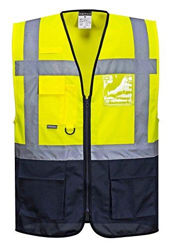PORTWEST C476 - Warschau Warnschutz-Weste, 1 Stück, 5XL, gelb/marine, C476YNR5XL