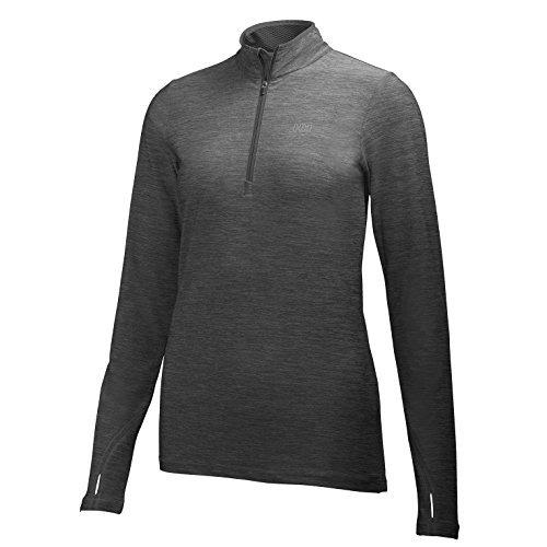 Helly Hansen Aspire Flex T-Shirt à Manches Longues 1/2 Zip Femme, Ebony Heather, FR (Taille Fabricant : XL)