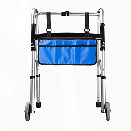 """Wheelchair Bag Side Pouch Basket Storage Organizer Tote Pockets for Your Mobility Devices. Fits Most Scooters, Walkers, Rollator - Manual, Powered or Electric Wheelchairs 14"""" x7.5"""".(HZC139) (Blue)"""