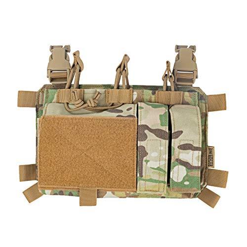 OneTigris Magazinetaschen Taktisches Plakat 01 Mag Pouch Pistole Drei-fach für Chest Rig Plattenträger Triple Kangaroo mag Pouch | MEHRWEG Verpackung (MultiCam)